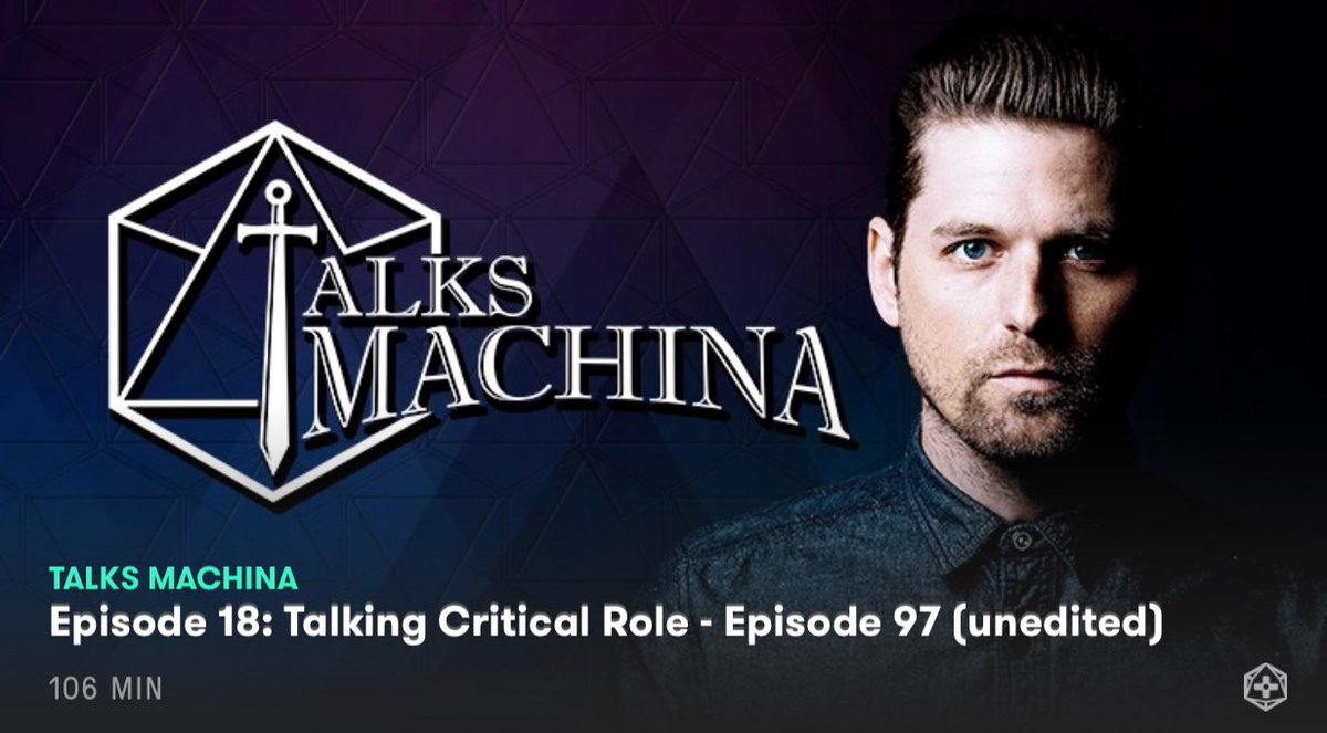 Oh hey, look what we got up on Alpha already...  #TalksMachina #Critic...