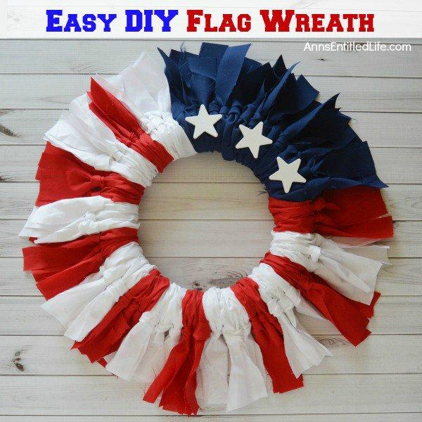 Easy DIY Flag Wreath