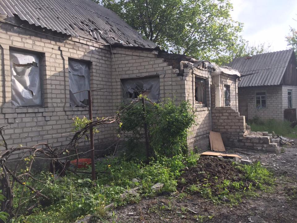 Damage in Avdiivka after heavy shelling this morning