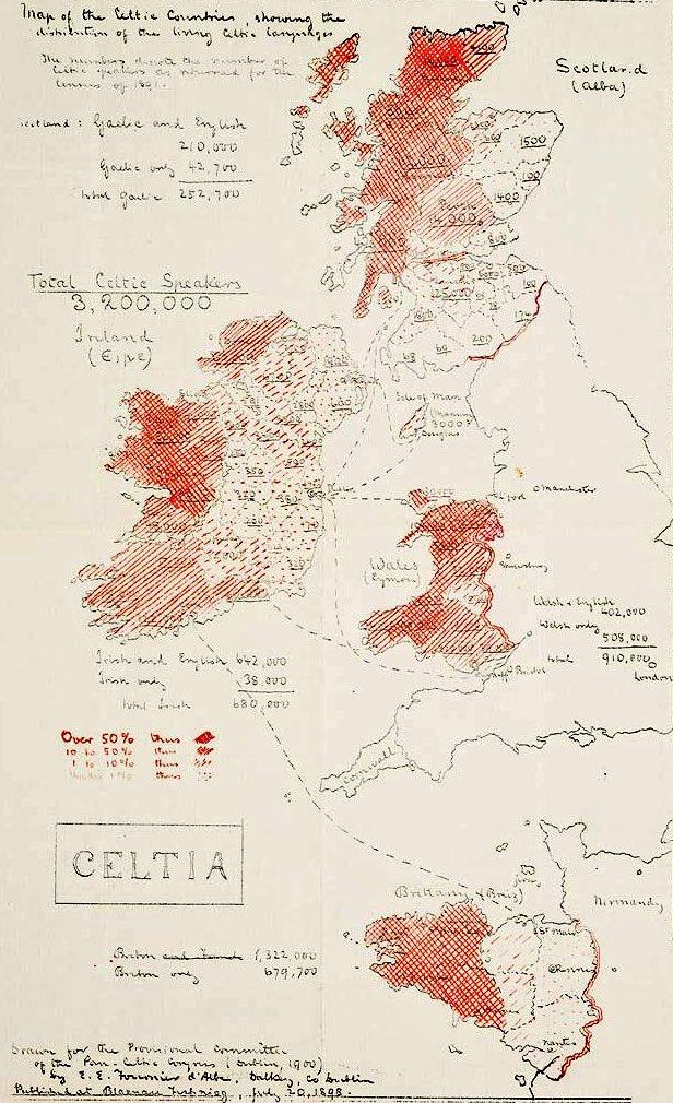 Map Of Uk 1900.Uk Language Maps On Twitter 1900 Celtic Language Map Uk Roi