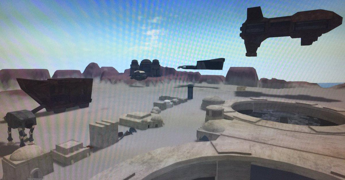 Town layout for Tatooine . Twin spaceport classic cantina &amp; hutt palace on hills . Jawa sandcrawler  &amp; corona k ship #OSGrid #starwars #Jawa <br>http://pic.twitter.com/lGJf5xK5li