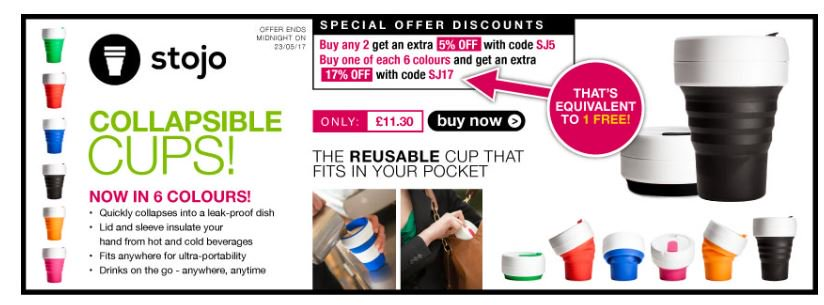@stojoco collapsible cups  http:// ow.ly/CPxv30bLNc2  &nbsp;   #RT #Follow #Win @myhotUKdeals  #MultiBuy any 2 extra 5% off buy1 of ach colour get 1 free <br>http://pic.twitter.com/go0aNTSdlI