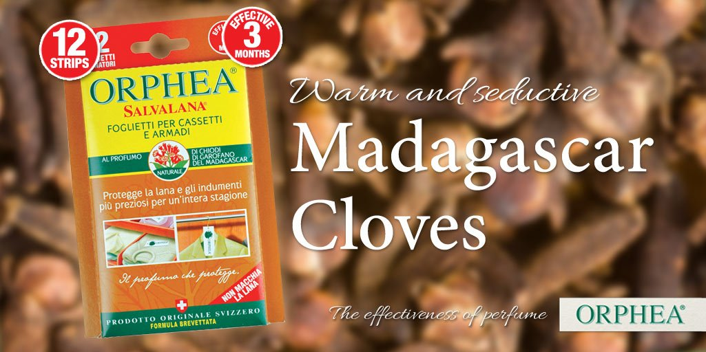 Enjoy the warm and seductive Orphea Madagascar Cloves strips to protect and delicately perfume your clothes. https://t.co/k9ibagW6Iy