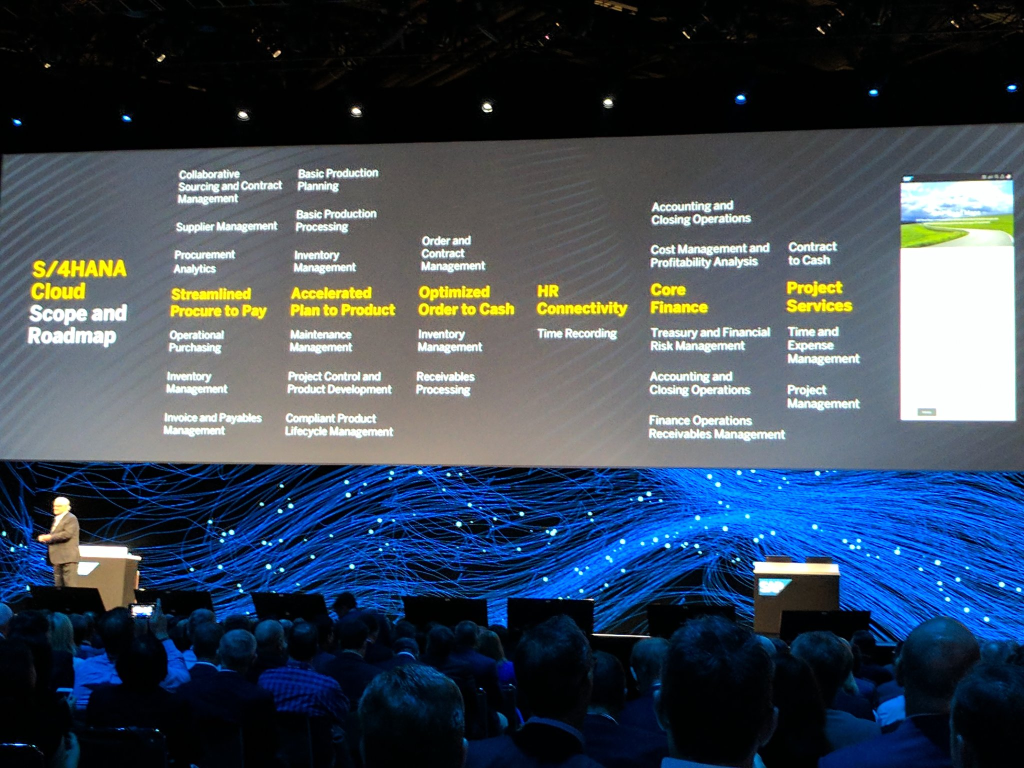 Plattner walks us through upcoming #S4HANA new capabilities. #SAPPHIRENOW https://t.co/zGA48Aqcos