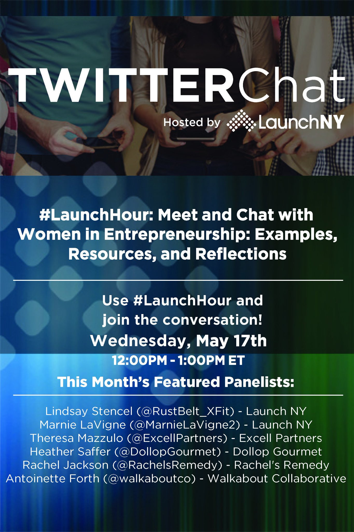Are you joining us today on #LaunchHour @ noon? We have a great lineup of #FemaleFounders and funders on today! Let us know you'll be there! https://t.co/uYr2ISkIfJ