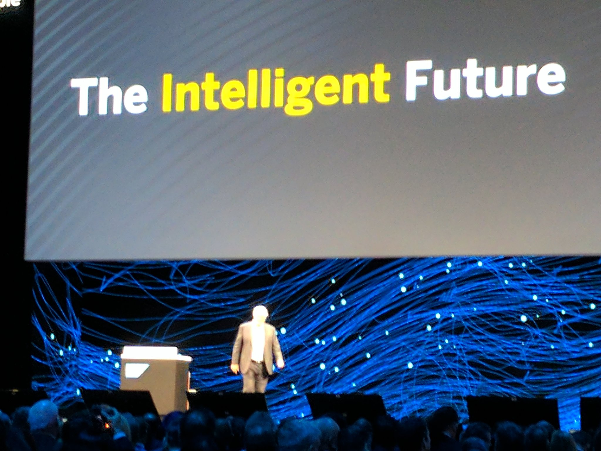 And we are of with the Intelligent Future with Hasso Platter #SAPPHIRENOW https://t.co/Yrv2Qb9Epd
