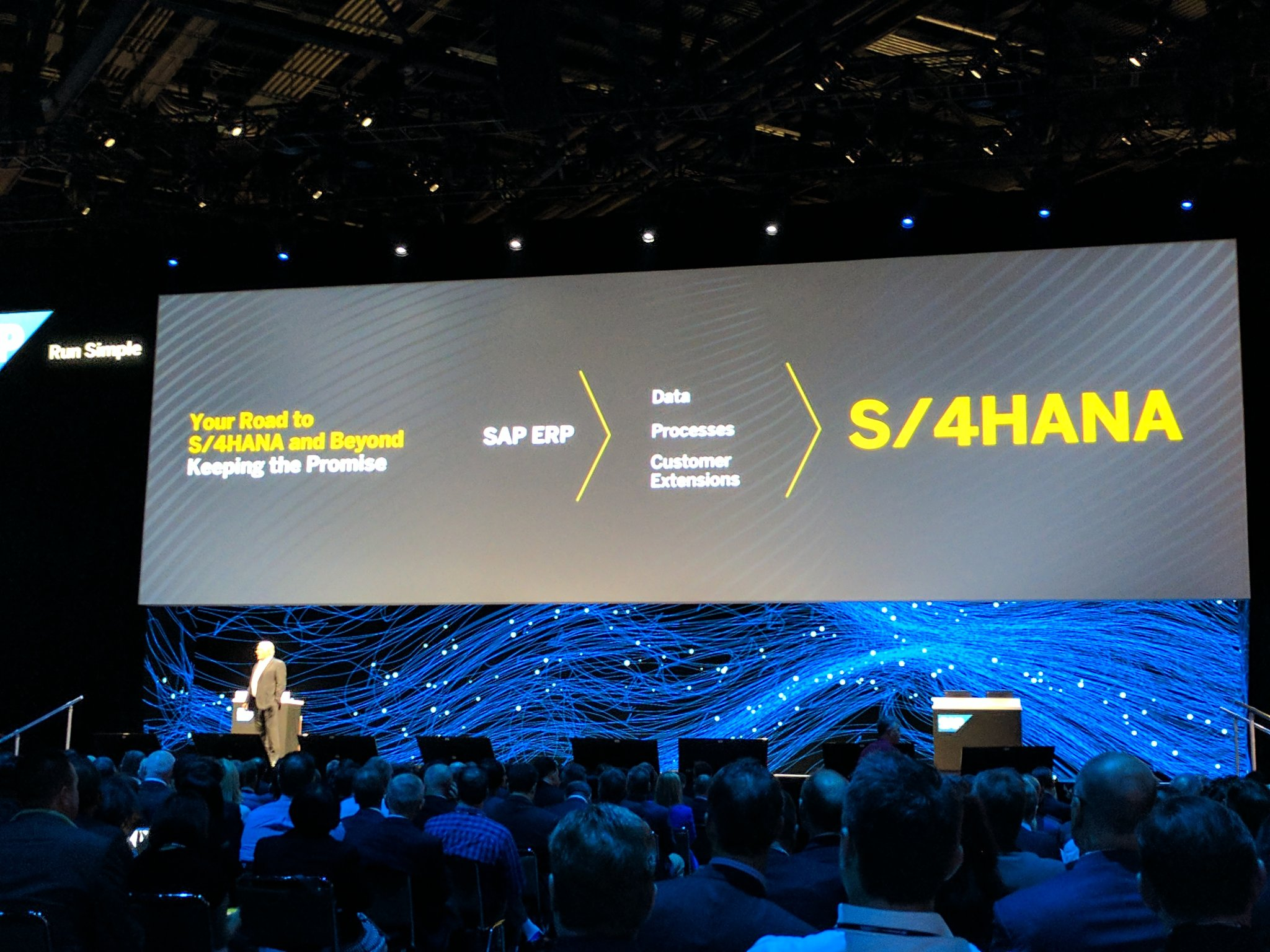 Plattner - I will only talk #S4HANA #Cloud #SAPPHIRENOW https://t.co/vSaRS0fMlg