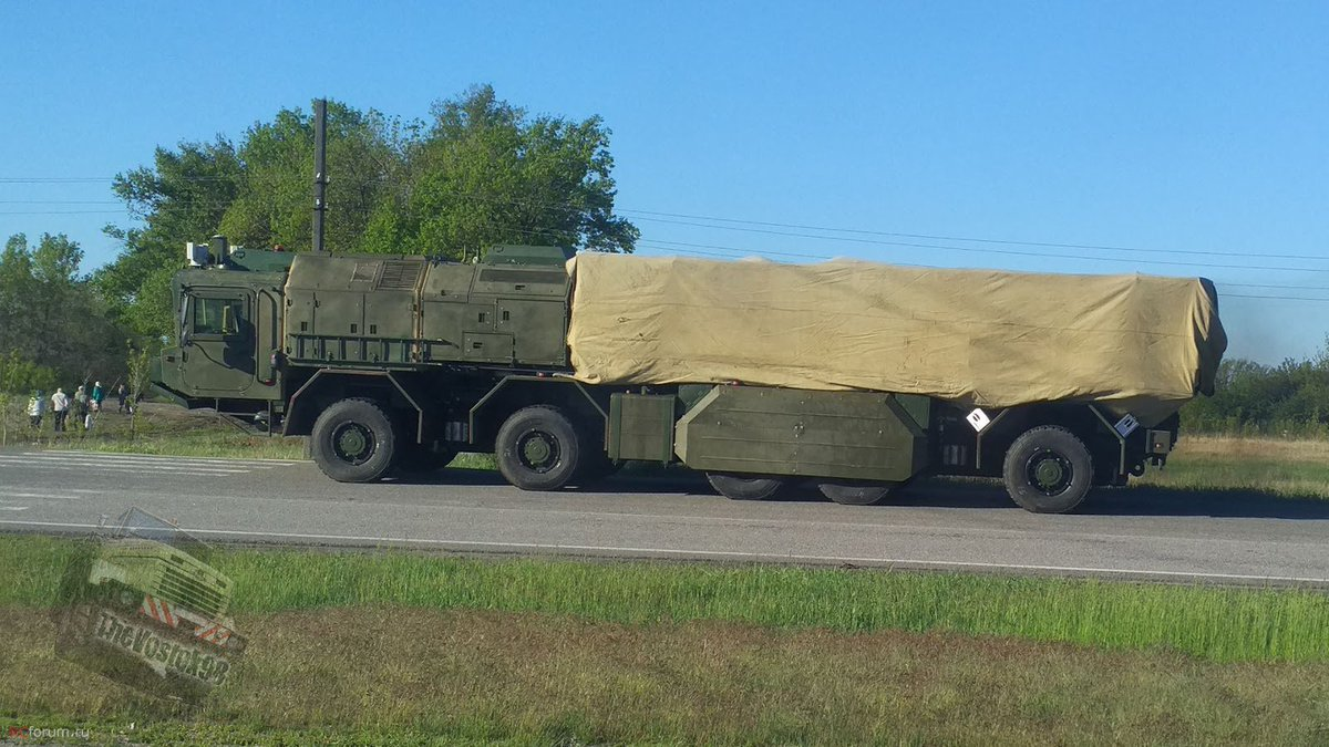 Likely «Grom» tactical missile system spotted on the road in Ukraine