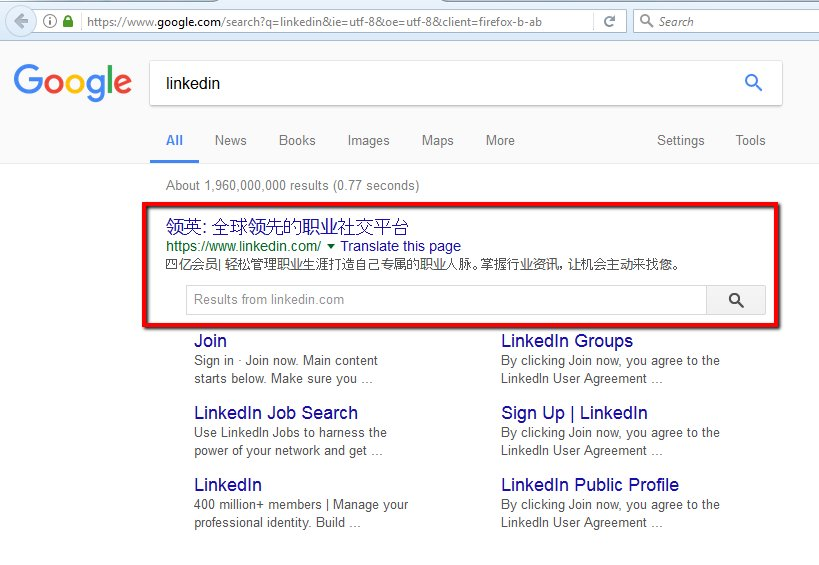 #linkedin showing me Chinese Snipped in #Google #SearchResult. What&#39;s the reason? @LinkedIn<br>http://pic.twitter.com/0W26xnsWKD