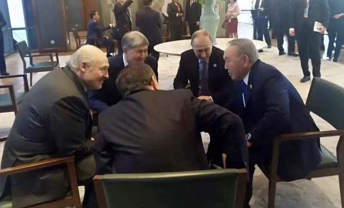 Photo: Putin, Nazarbayev, Mirziyoev, Lukashenko, Atambayev in Beijing