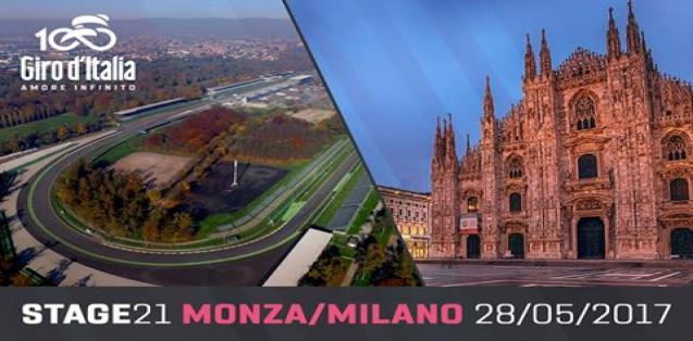 GIRO D'ITALIA 2017 Monza Milano: dove vedere ultima Tappa Oggi 28 maggio in Diretta Streaming Gratis su Rai YouTube Facebook | CICLISMO