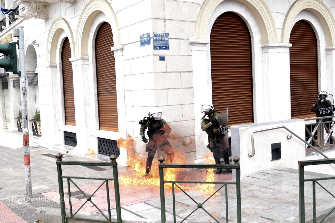 Clashes in Athens with police