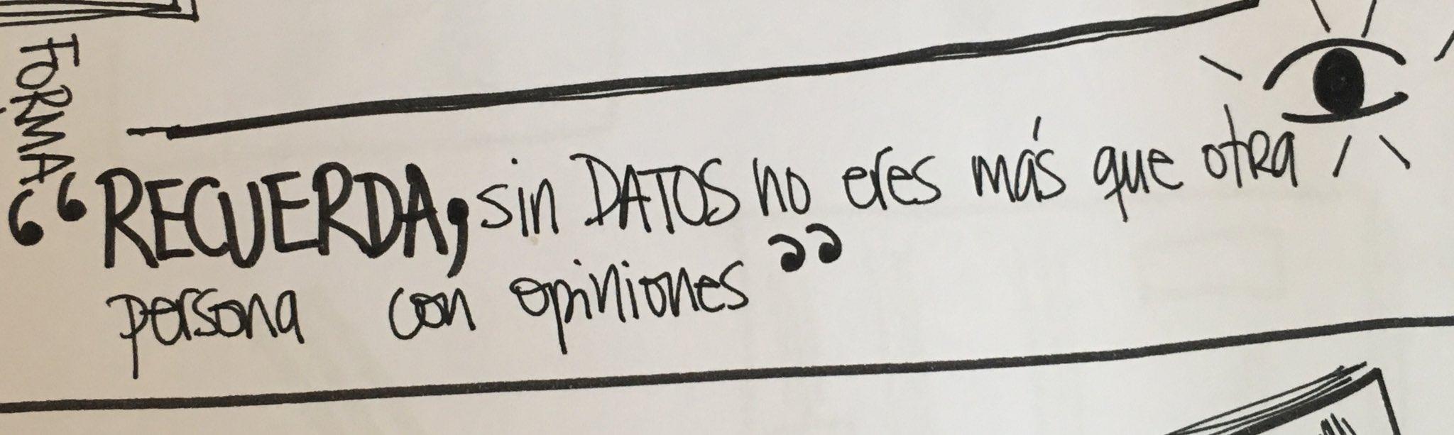 Recuerda, sin DATOS NO eres más que otra persona con opiniones #PISA  #getxolinguae17 https://t.co/wKRdbtzcQV