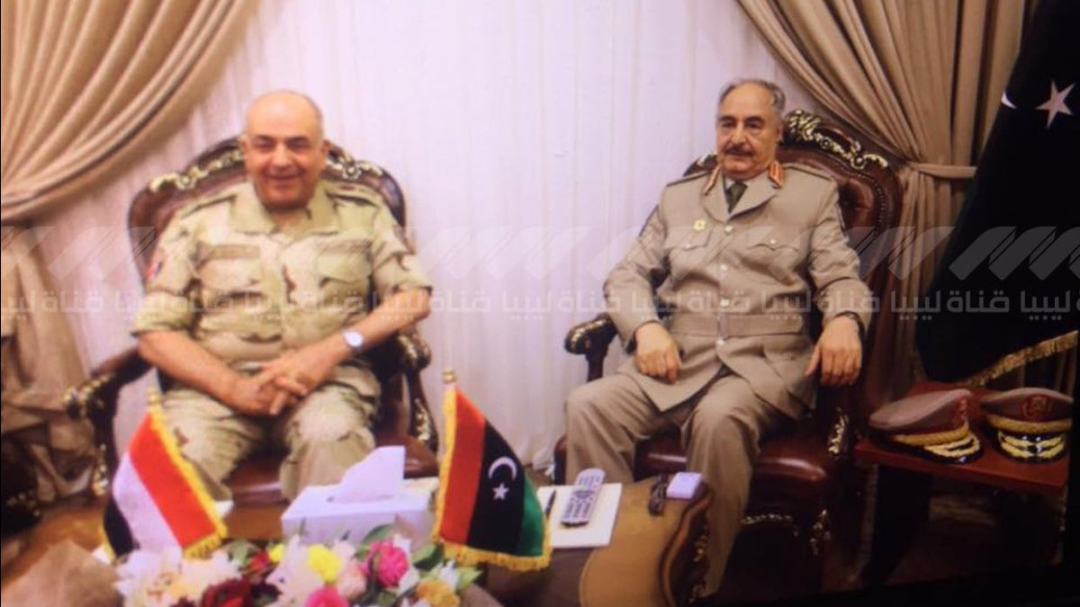 Haftar recieved Egyptian delegation in Benghazi