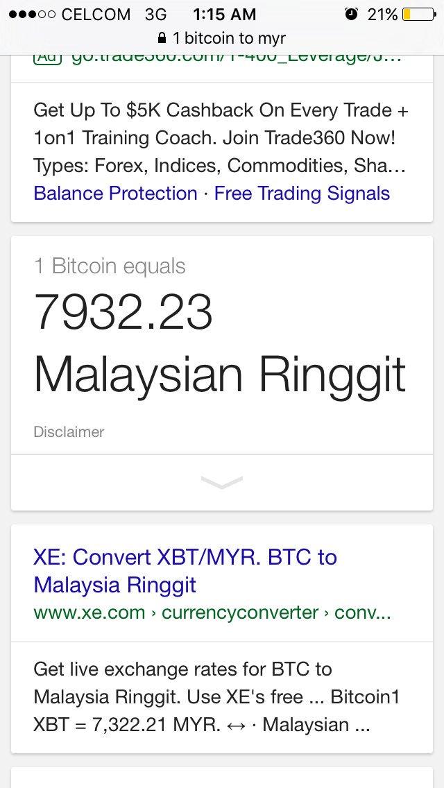 1 bitcoin in rm