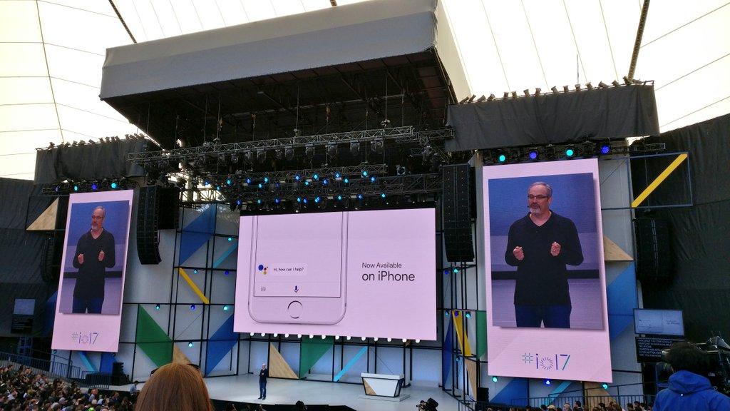 Google Assistant llega a iPhone. Siri tiene la competencia en su propio terreno #IO17