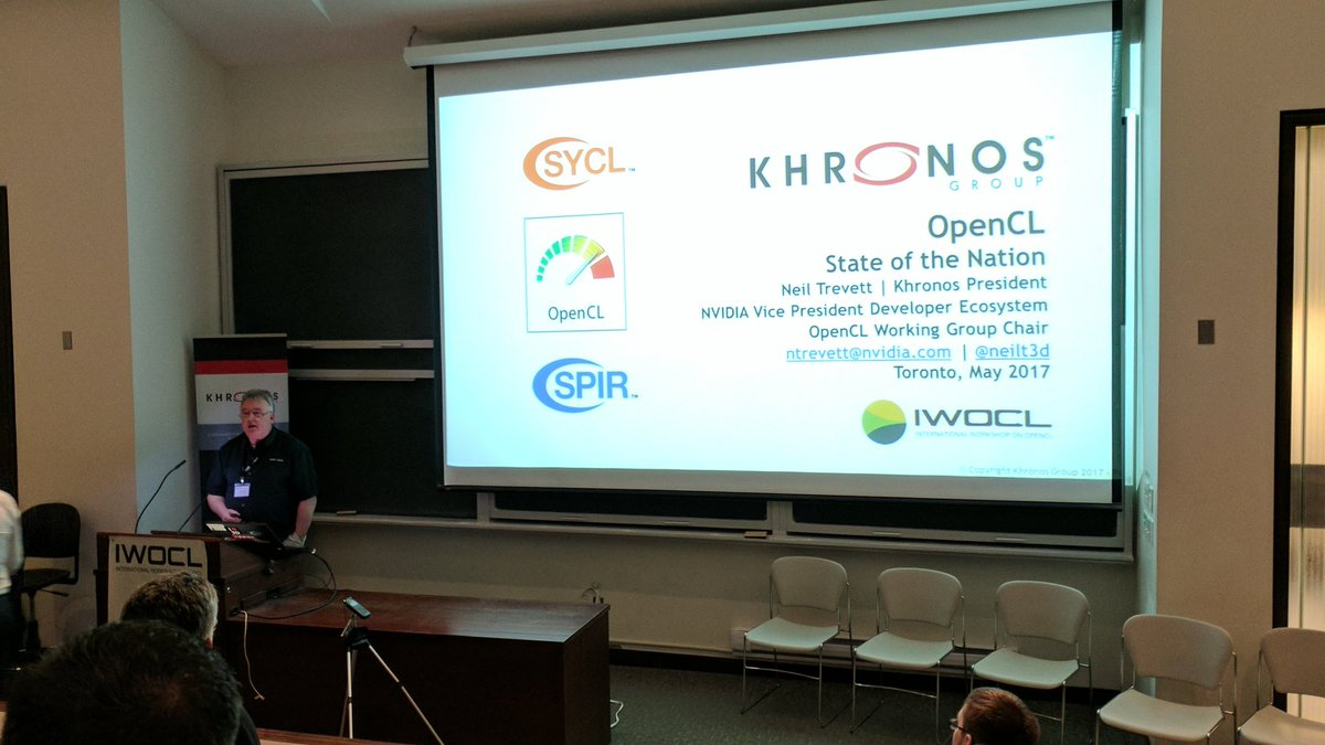Keynote by @neilt3d for #IWOCL at the University of Toronto. @IWOCL