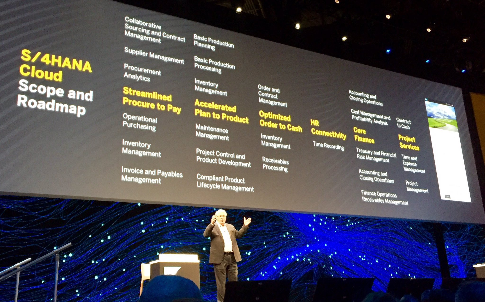 Wow, so according to Hasso, @sap spends 10% of their R&D budget to develop interfaces!  #SAPPHIRENOW @holgermu @rwang0 @LeukertB https://t.co/l7Dgr1FDTA
