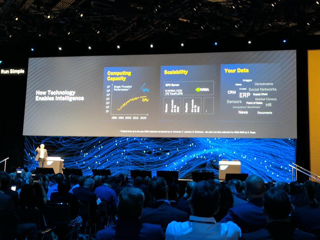 Plattner goes over  - computing capacity  - scalability  - on your own data  #SAPPHIRENOW https://t.co/5m1R0sGy9m