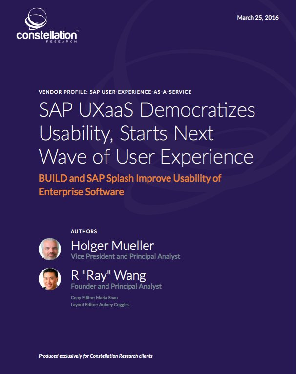 Want to learn more about @SAP Build tool -  here is the report - @SAP UXaaS Democratizes Usability https://t.co/W8HAIoi30D #SAPPHIRENOW https://t.co/qjipRbXjwX