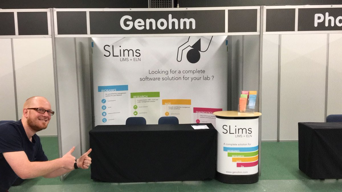 Our booth #62 is up at #KFG2017! Dries and the rest of the team will be there tomorrow. Go check out #SLims!  https://www. genohm.com/2017/05/03/gen ohm-at-kfg2017-the-2017-edition-of-knowledge-for-growth-in-ghent/ &nbsp; … <br>http://pic.twitter.com/jLOJqBvgWH