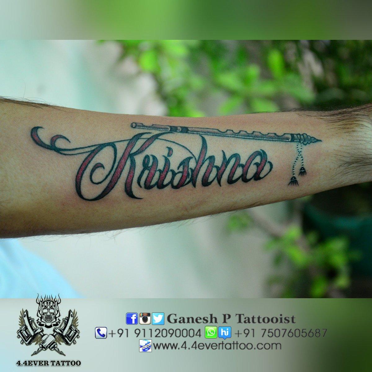 Ganesh P Tattooist On Twitter Krishna With Bansi Colorfull