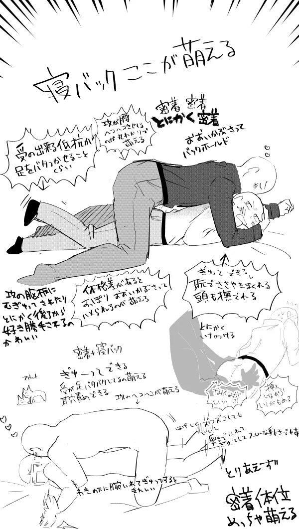 ゲイ 寝バック 動画