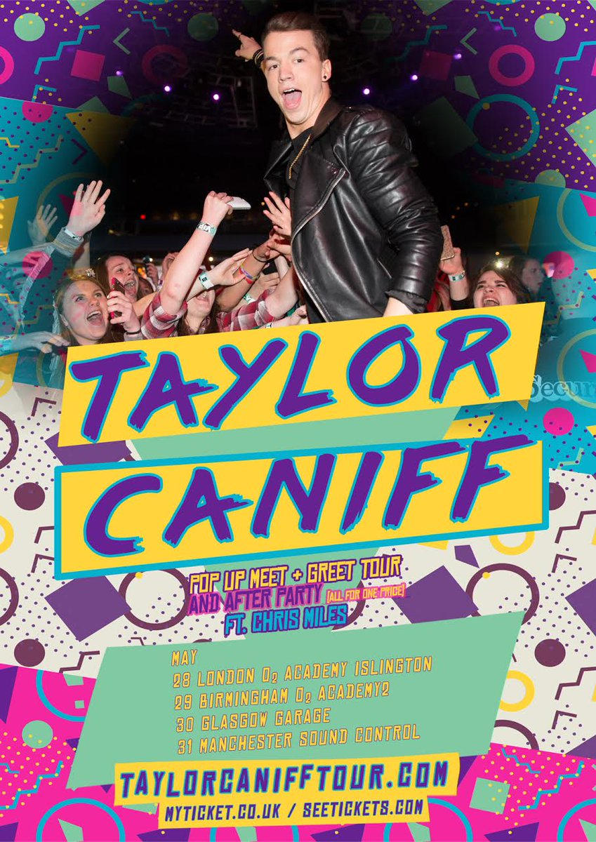 Taylor Caniff On Twitter Uk Im So Excited About My Pop Up Meet