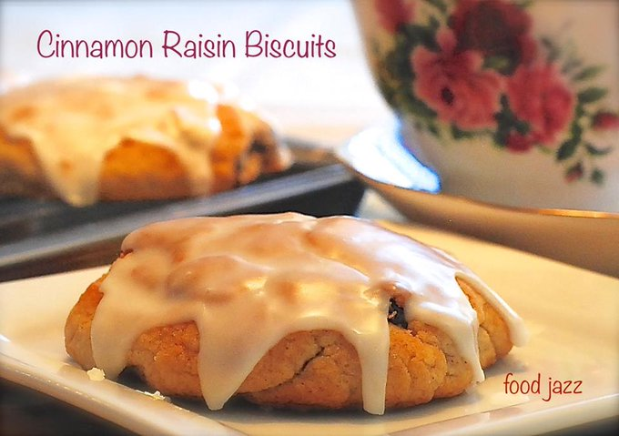 Homemade Cinnamon Raisin Biscuits