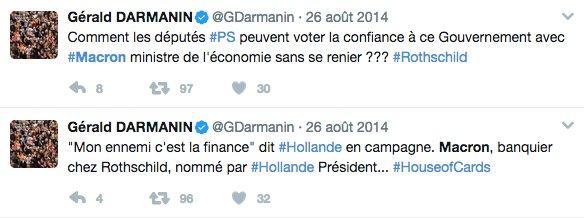 Btw, à Bercy #Darmanin devient donc le grand argentier d'un affreux 'banquier chez Rothschild' 💁🏻