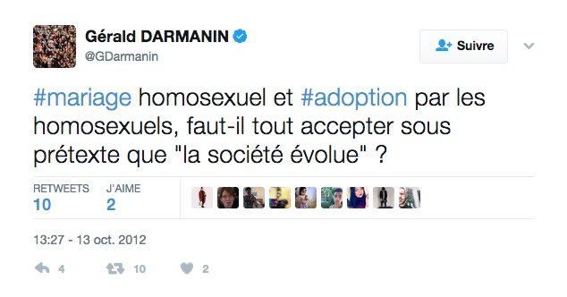 Au fait Gérald #Darmanin, la réponse est OUI :) #loveislove