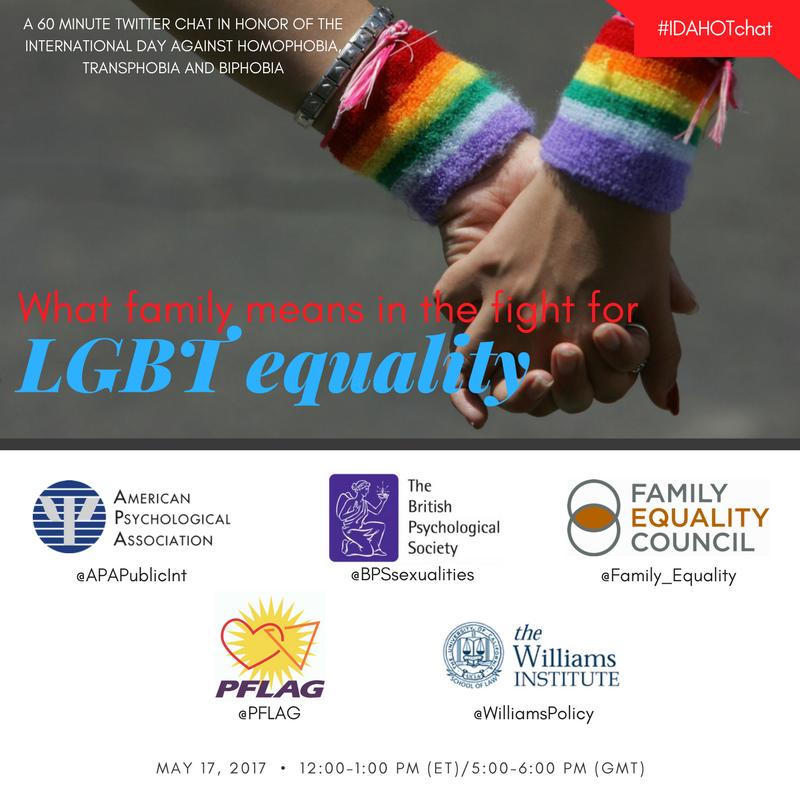 In 30 mins, we'll discuss role of #families in #LGBT equality. Please join us! #IDAHOT #IDAHOBIT https://t.co/fnwuJDRTiJ https://t.co/1R2XfKRlUF