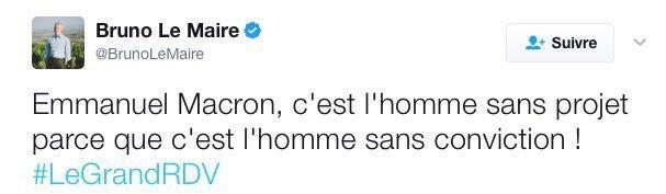 Ministre de l'opportunisme : je nomme Bruno Le Maire ! #ImpostureMacron