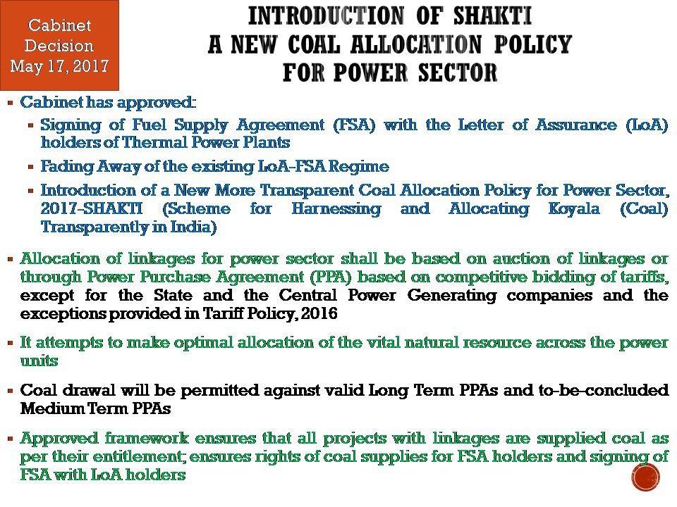 Cabinet Gives Nod For Shakti Coal Allocation Scheme