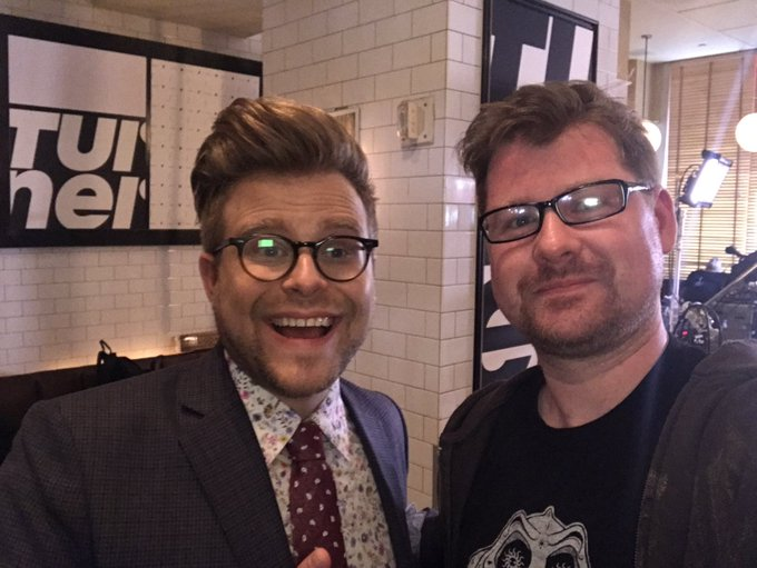 My new bestie! He ruined the upfronts for me! @adamconover