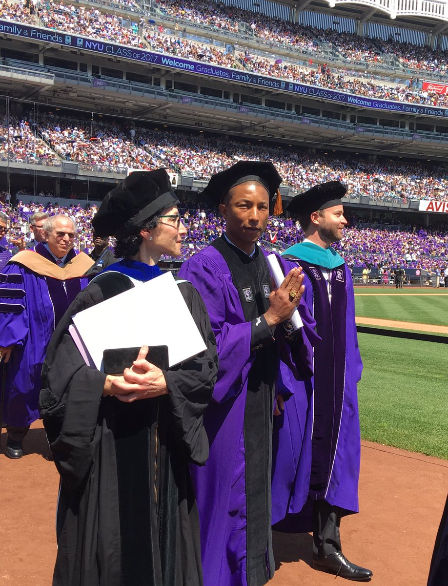 That&#39;s Doctor @Pharrell to you... #congratagradnyu <br>http://pic.twitter.com/fpIpBJ4Ub9