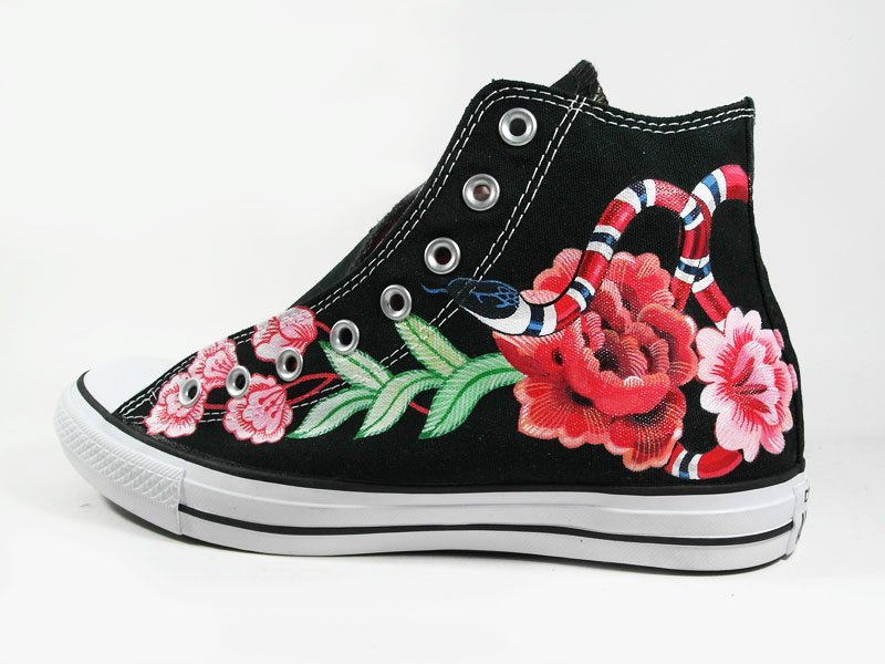 Annatar On Twitter Custom Paint Gucci Floral Snake Converse BLACKPINK Jennie Inspire Nini Sneakers