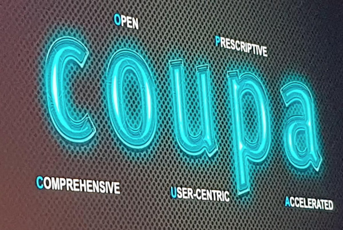 What Coupa stands for: Comprehensive, open, user-centric, prescriptive, accelerated. #CoupaInspire https://t.co/n72iMUxxmp