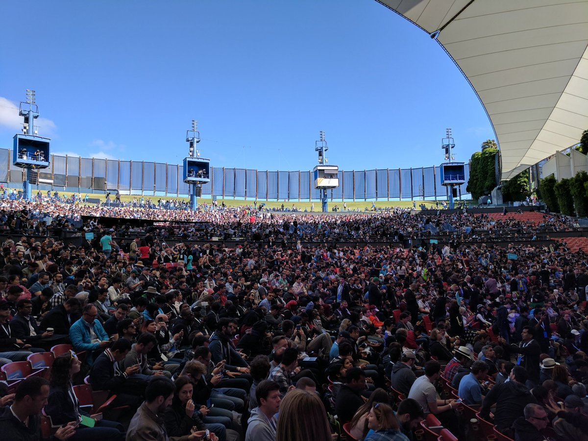 RT @sundarpichai: Almost showtime! See you soon #io17 https://t.co/xafQYubi85 https://t.co/ioGFpndbzX