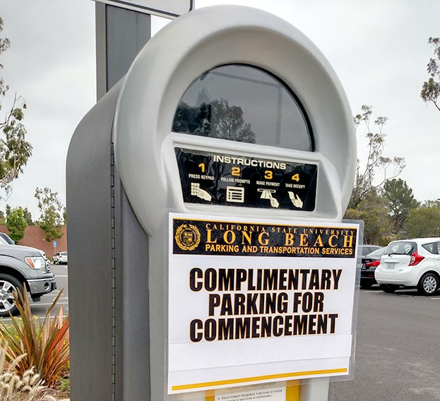 Parking (including Short-Term) will be FREE during #Commencement in all CSULB General Lots. Learn more https://t.co/5Kwzr3q7yv. #GoBeach17 https://t.co/itNZLHHs9l