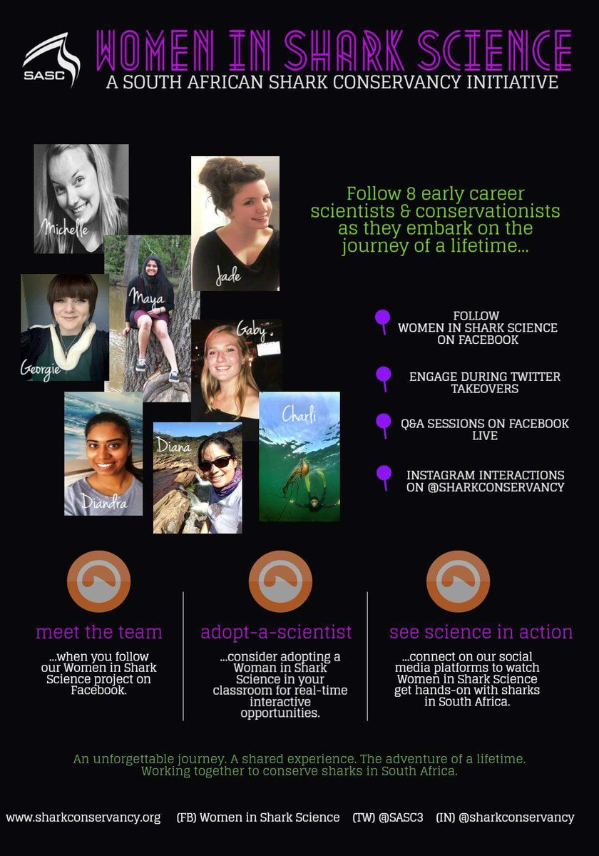 It&#39;s official! We&#39;ve launched outreach &amp; education for the @SASC3 #WomeninSharkScience project!  #womeninSTEM #SharkScience #HopeSpot <br>http://pic.twitter.com/tLdAvA7Slf