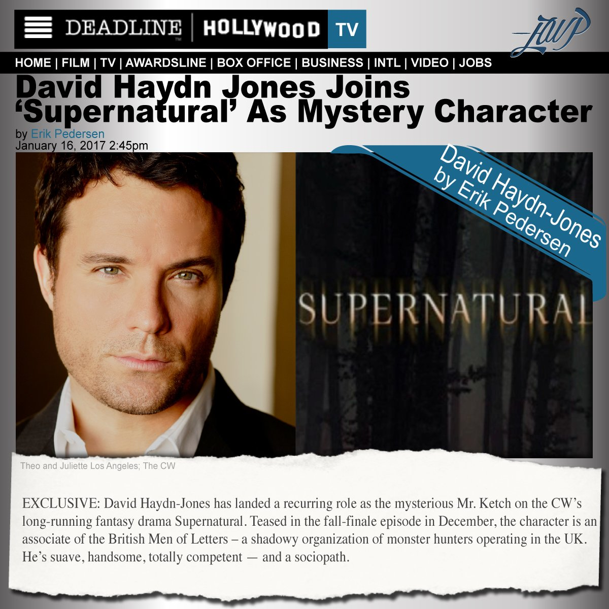 w/ #Supernatural's finale TOMORROW look back to @DEADLINE's Mysterious #MrKetch @DavidHaydnJones https://t.co/2rDRVtb9Nc What a story Arc! https://t.co/vSSdUXE2xW