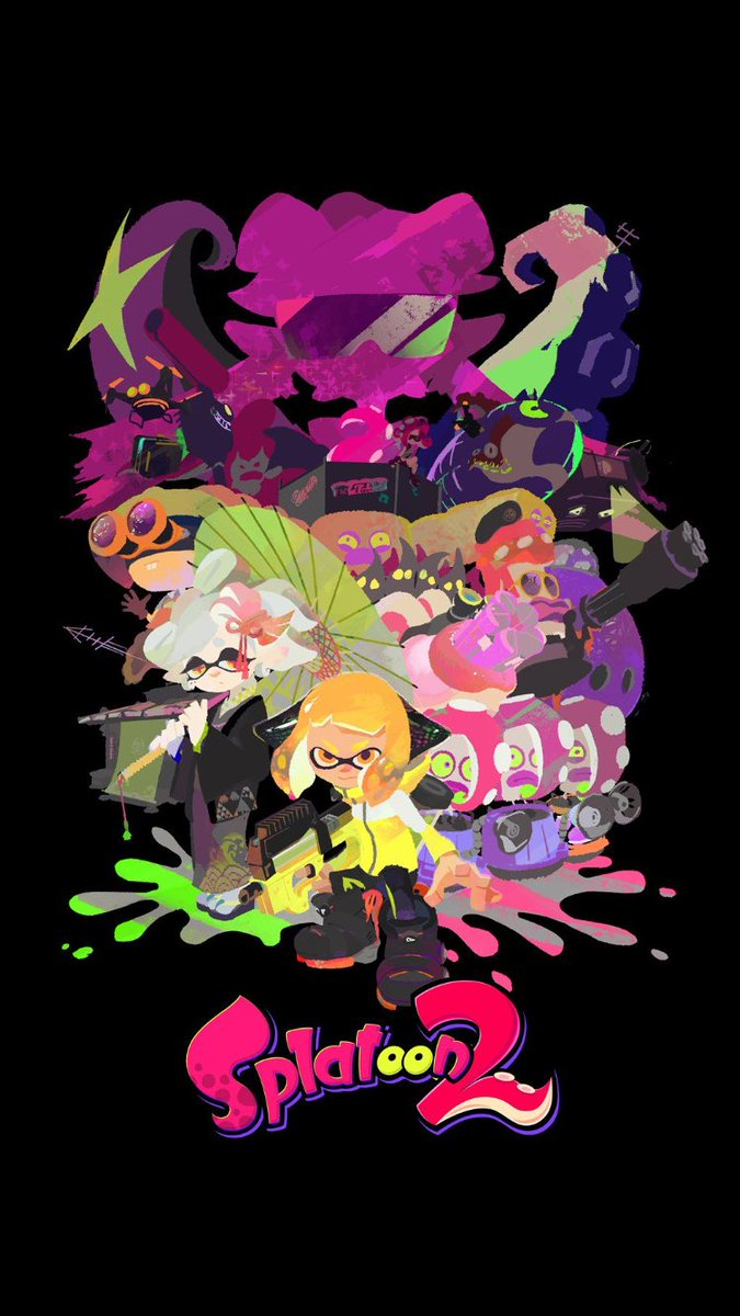 Splatoon News On Twitter Instant New Phone Wallpaper Material