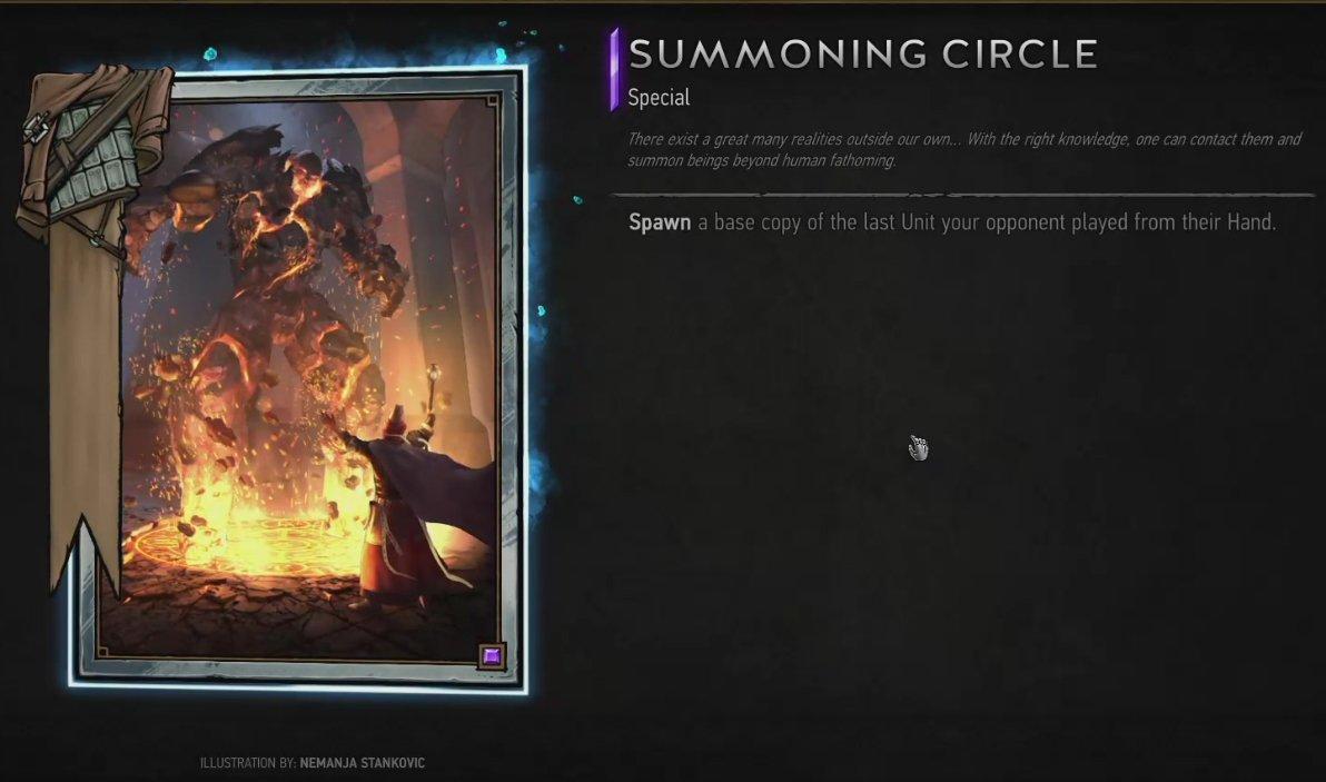 Znalezione obrazy dla zapytania gwent summoning circle showing