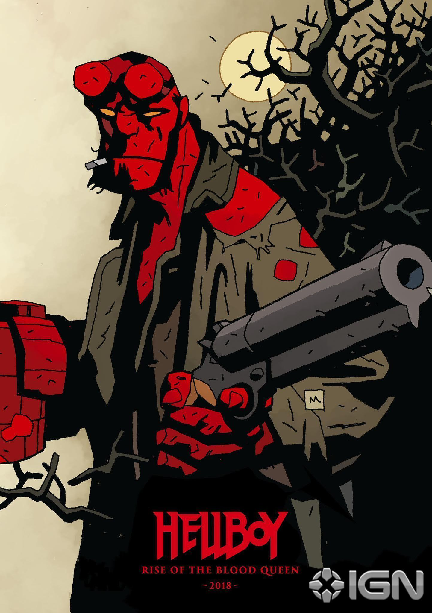 Totally want the first #Hellboy reboot movie art as a poster NOW: https://t.co/L5FvDXr77f https://t.co/hVO6svxewM