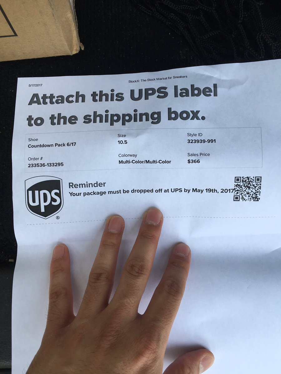 picture regarding Printable Ups Label known as StockX upon Twitter: \