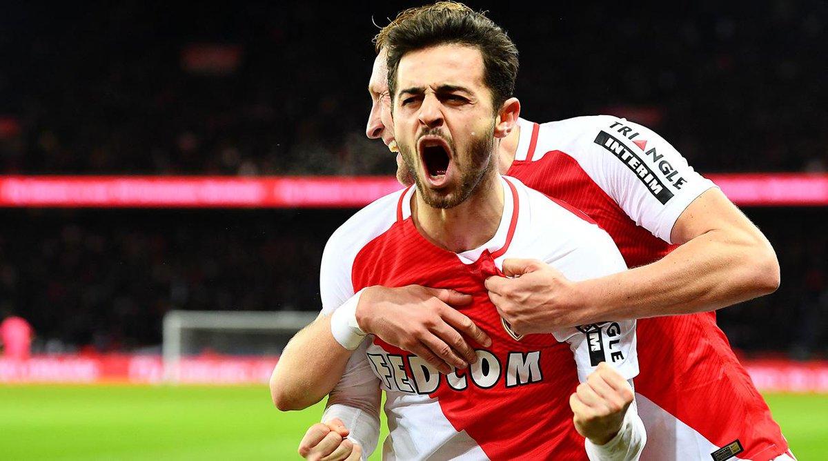 🏆 Mais um campeão na Europa. Bem-vindos ao grupo, @AS_Monaco! Parabéns, @BernardoCSilva!