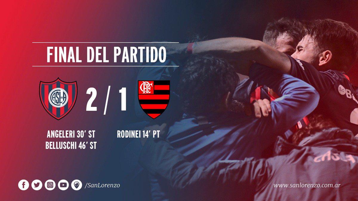 Apareció Belluschi, estampó el 2-1 ante Flamengo y #SanLorenzo clasifica primero del Grupo 4.