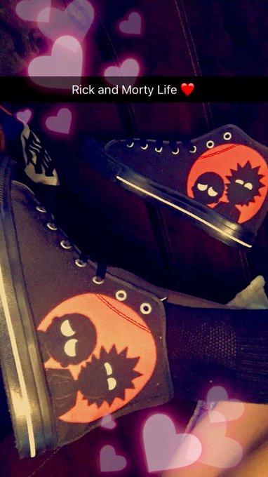 My new @RickandMorty kicks... make me soooo happy. 🖤 https://t.co/VBSTfZMhFJ