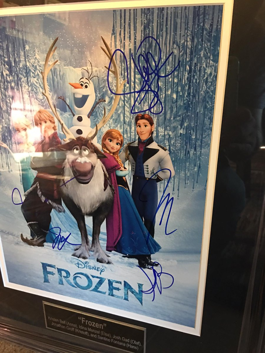 Frozen cast autographs.  Another reason to come to this year's banquet...